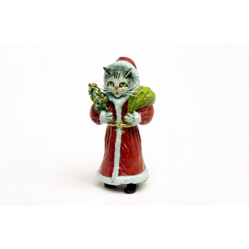 Cat Santa Claus Vienna Bronze Figurine