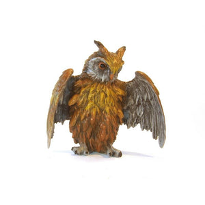 Owl Open Wings Vienna Bronze Figurine