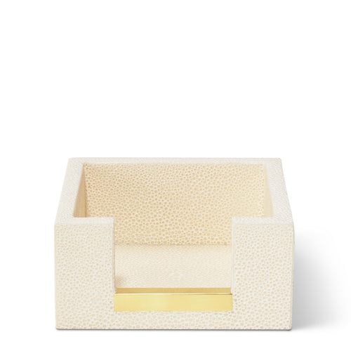 AERIN Shagreen Memo Paper Holder - Cream