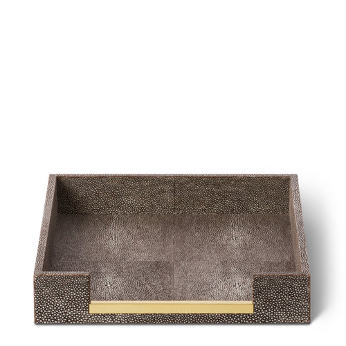 AERIN Shagreen Paper Tray - Chocolate