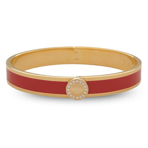 "Halcyon Days ""Sparkle Button Red & Gold"" Bangle"