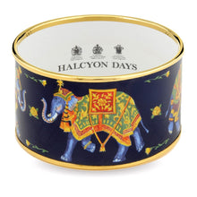 "Load image into Gallery viewer, Halcyon Days ""Ceremonial Indian Elephant Cuff Blue"" Bangle"