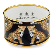 "Load image into Gallery viewer, Halcyon Days ""Leopard Cuff Black"" Bangle"
