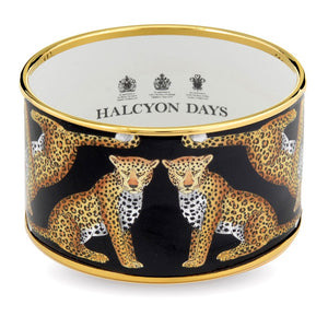 "Halcyon Days ""Leopard Cuff Black"" Bangle"