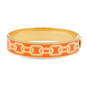 "Halcyon Days ""Chain Orange & Gold"" Bangle"