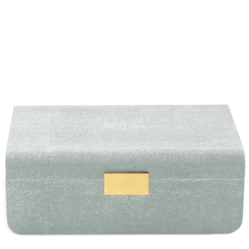 AERIN Modern Shagreen Large Jewelry Box - Mist