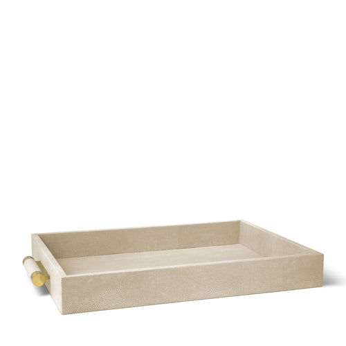 AERIN Classic Shagreen Serving Tray - Wheat