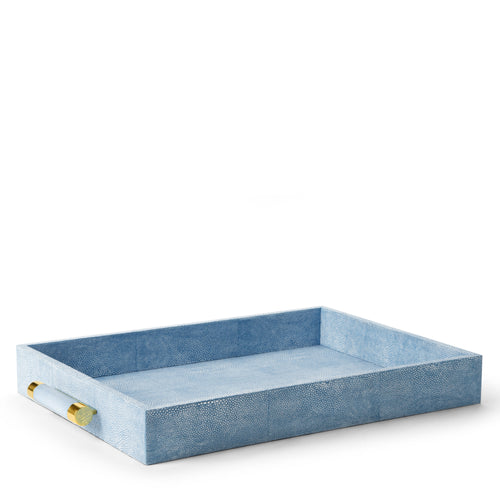 AERIN Classic Shagreen Serving Tray - Blue