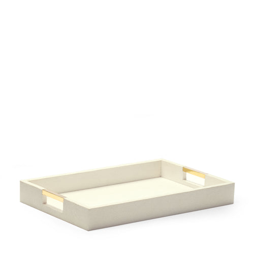 AERIN Modern Shagreen Desk Tray - Cream