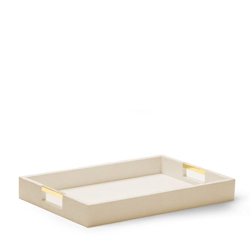 AERIN Modern Shagreen Desk Tray - Wheat