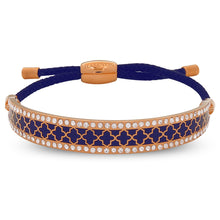 "Load image into Gallery viewer, Halcyon Days ""Agama Sparkle Navy & Rose Gold Friendship"" Bangle"