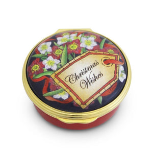 "Halcyon Days ""Christmas Wishes"" Enamel Box"