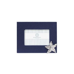 Mariposa Navy Blue Linen with Starfish Icon 4x6 Frame
