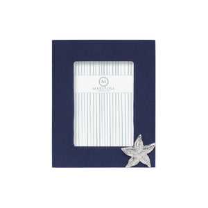 Mariposa Navy Blue Linen with Starfish Icon 5x7 Frame - NEW