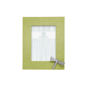 Mariposa Spring Green Linen with Dragonfly Icon 5x7 Frame - NEW