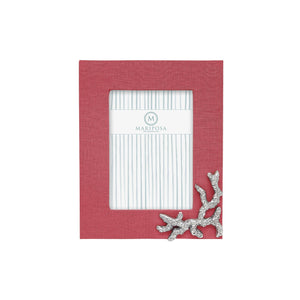 Mariposa Coral Linen with Coral Icon 5x7 Frame - NEW