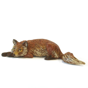 Fox Lying Vienna Bronze Figurine