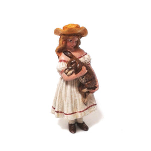 Girl With Rabbit Vienna Bronze Figurine
