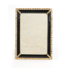 "Load image into Gallery viewer, Jay Strongwater Lorraine Stone Edge 4"" x 6"" Frame - Black"
