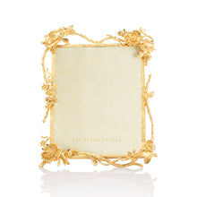 "Load image into Gallery viewer, Jay Strongwater Dacia Floral Branch 8"" x 10"" Frame - Gold"