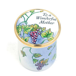 "Staffordshire ""To A Wonderful Mother"" Enamel Box"