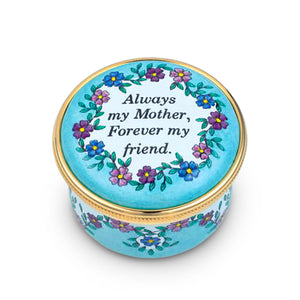 "Staffordshire ""Always My Mother"" Enamel Box"