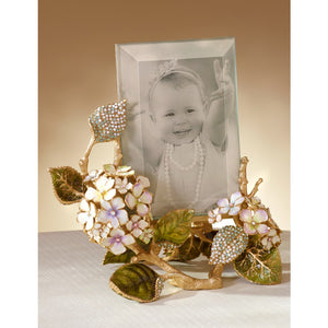 "Jay Strongwater Kate Hydrangea 4"" x 6"" Frame"