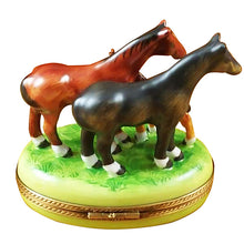 "Load image into Gallery viewer, Rochard ""Three Horses"" Limoges Box"