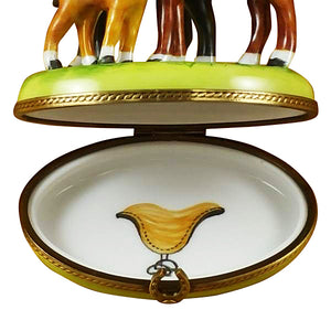 "Rochard ""Three Horses"" Limoges Box"