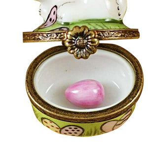 "Rochard ""Mini Rabbit with Easter Eggs"" Limoges Box"