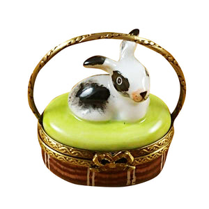 "Rochard ""Basket with Mini Rabbit"" Limoges Box"