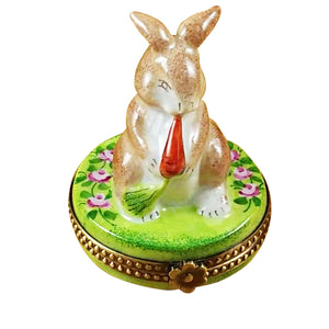 "Rochard ""Rabbit with Carrot"" Limoges Box"