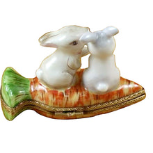 "Load image into Gallery viewer, Rochard ""Rabbits on Carrot"" Limoges Box"