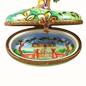 "Rochard ""Peacock with Removable Feather"" Limoges Box"