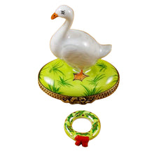 "Load image into Gallery viewer, Rochard ""Goose with Spring and Christmas Wreaths"" Limoges Box"