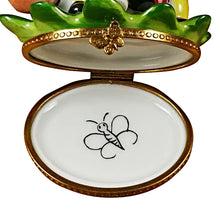 "Load image into Gallery viewer, Rochard ""Caterpillar on Leaf"" Limoges Box"