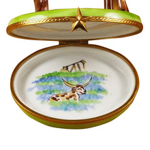"Load image into Gallery viewer, Rochard ""Longhorn with Removable Insert"" Limoges Box"
