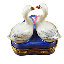 "Load image into Gallery viewer, Rochard ""Two Swans on Heart"" Limoges Box"