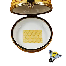 "Load image into Gallery viewer, Rochard ""Beehive with Bee"" Limoges Box"