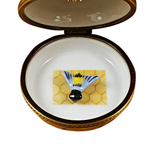 "Rochard ""Beehive with Bee"" Limoges Box"