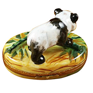"Rochard ""Panda with Bamboo"" Limoges Box"