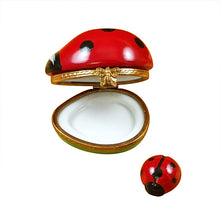 "Load image into Gallery viewer, Rochard ""Ladybug with Baby"" Limoges Box"