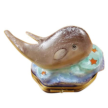 "Load image into Gallery viewer, Rochard ""Whale with Baby"" Limoges Box"