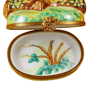 "Rochard ""Three Monkeys"" Limoges Box"