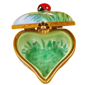 "Rochard ""Ladybug on Heart"" Limoges Box"