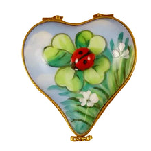 "Load image into Gallery viewer, Rochard ""Ladybug on Heart"" Limoges Box"