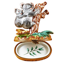 "Load image into Gallery viewer, Rochard ""Koala with Baby"" Limoges Box"