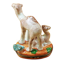 "Load image into Gallery viewer, Rochard ""Camel with Baby"" Limoges Box"