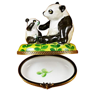"Rochard ""Panda and Cub"" Limoges Box"