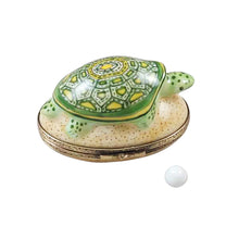 "Load image into Gallery viewer, Rochard ""Turtle on Sand with Removable Egg"" Limoges Box"